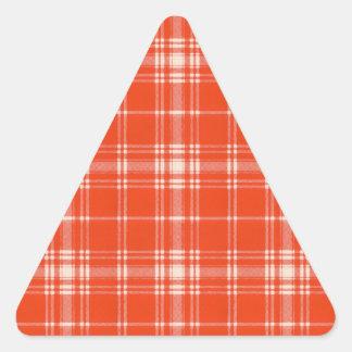 Menzies clan Plaid Scottish tartan Triangle Sticker