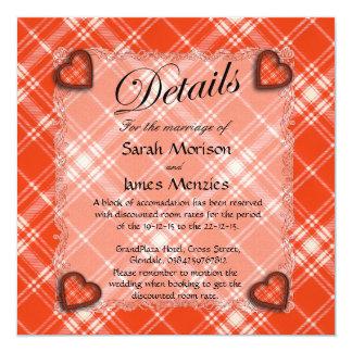Menzies Scottish clan tartan - Plaid 13 Cm X 13 Cm Square Invitation Card