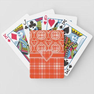 Menzies Scottish clan tartan - Plaid Bicycle Playing Cards