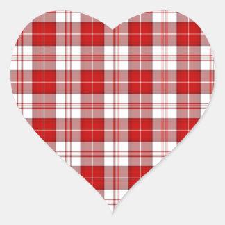 Menzies Tartan Plaid Heart Sticker