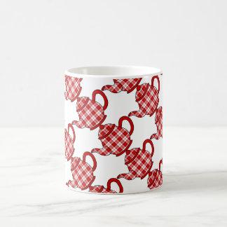 Menzies Tartan Plaid Teapots Basic White Mug