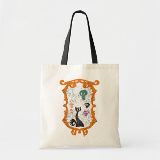 Meow - black cat - Halloween Budget Tote Bag