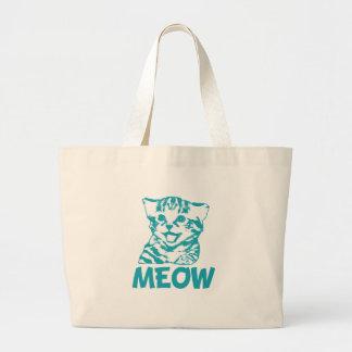 MEOW Blue Canvas Bag