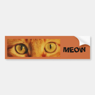 MEOW BUMPER STICKER