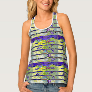 Meow Cat Birds Tank Top