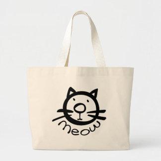 Meow cat Jumbo Tote Jumbo Tote Bag