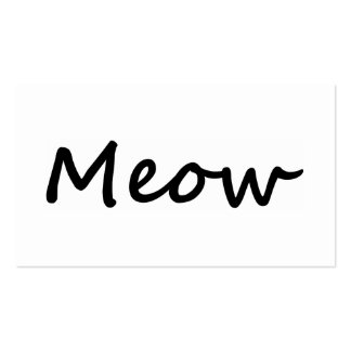 Meow Cat Kitty Voice Meowing Kitten Neko Calling Business Card Templates