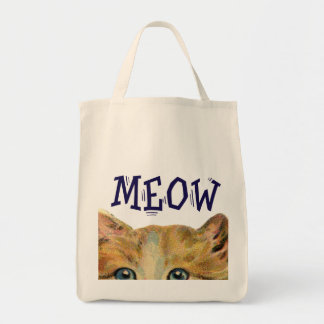 Meow Cat Organic Tote