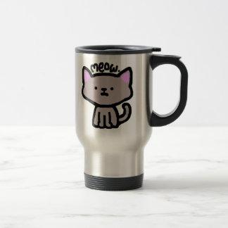 Meow. Cat Travel Mug