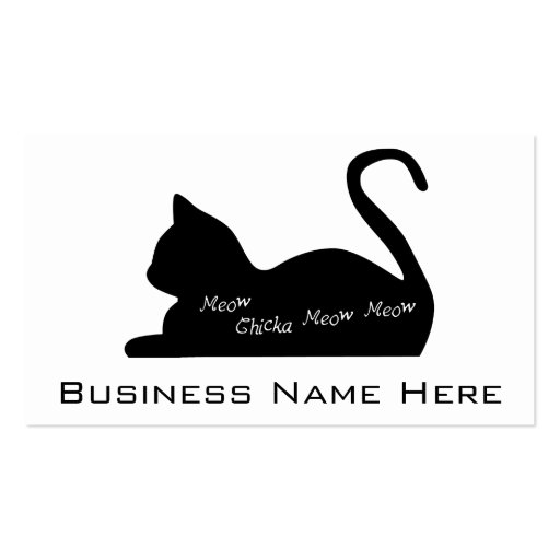 Meow Chicka Meow Meow Business Card Templates