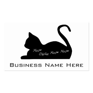 Meow Chicka Meow Meow Pack Of Standard Business Cards