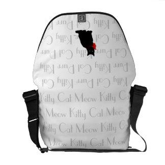Meow Designer Black Cat Bag Commuter Bags
