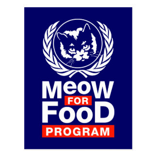 Meow For Food Program Post Cards