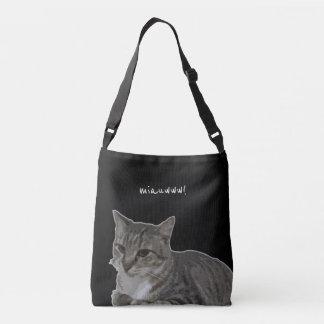 meow! grab me! crossbody bag