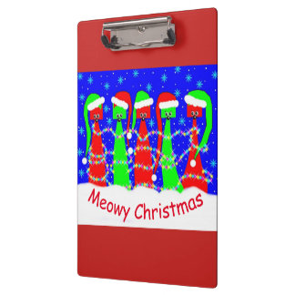 Meow Holiday Kitty Doodle Clipboard