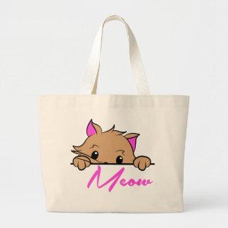 Meow Jumbo Tote Tote Bags