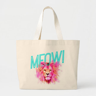 MEOW Lion Large Tote Bag