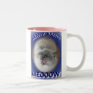 Meow meow meow Two-Tone coffee mug