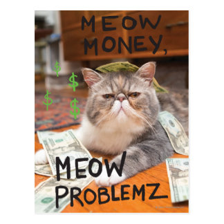 Meow Money, Meow Problemz Postcard