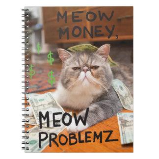 Meow Money, Meow Problemz Spiral Note Book