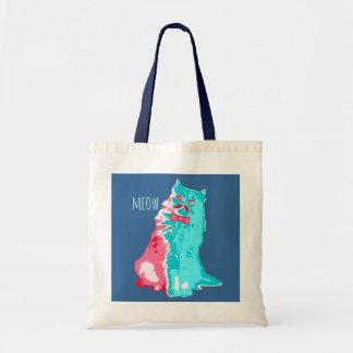 Meow Mustache Kitty Bag