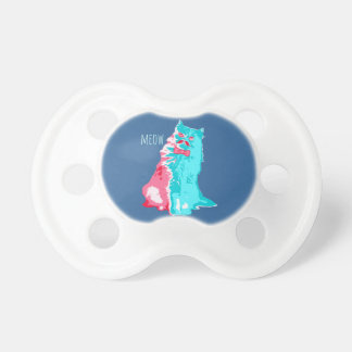 Meow Mustache Kitty Baby Pacifier