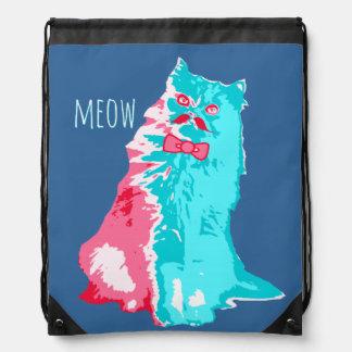 Meow Mustache Kitty Backpacks