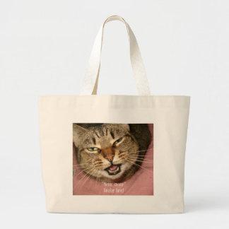 Meow neuter now! tote bag