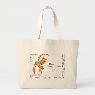 Meow Starts with ME Canvas Bag