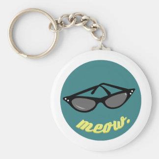 Meow Sunglasses Key Chain