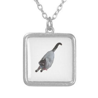 Meow - The Adventures Of jetty Cat Silver Plated Necklace
