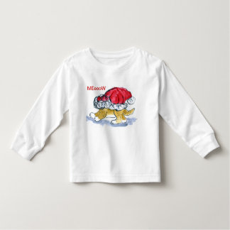 Meow - Tiger gets stuck in a Santa Hat Toddler T-Shirt