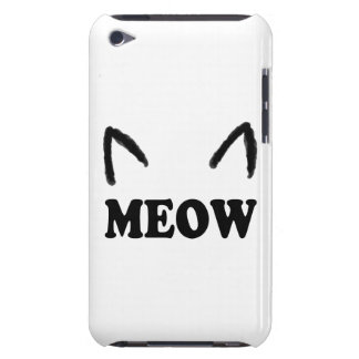 Meow With Cat Ears iPod Touch Cover