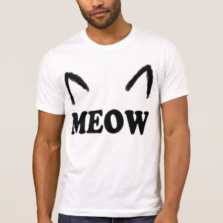 Meow With Cat Ears T-Shirt