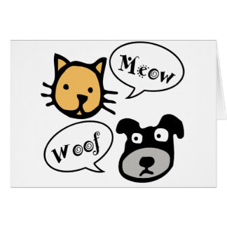 Meow Woof Greeting Card