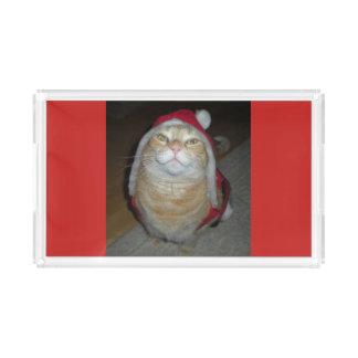 Meow-y Little Christmas Acrylic Tray