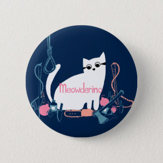 Meowderino (with weapons) Pin