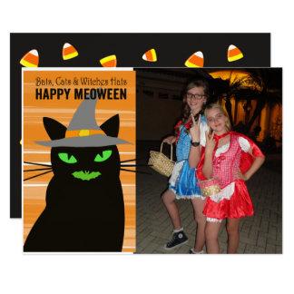 Meoween Halloween photo Card 13 Cm X 18 Cm Invitation Card