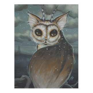 Meowl cat owl postcard
