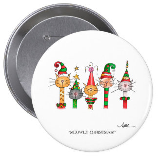 MEOWLY CHRISTMAS! Button