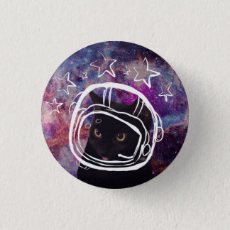 Meowstronaut Scooter Headshot Pin