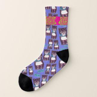 Meowtown Groovy Cat Socks 1