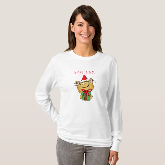 Meowy Catmas Basic Long Sleeve T-Shirt