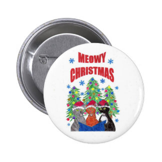 Meowy Christmas button