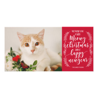 Meowy Christmas Custom Photo Card