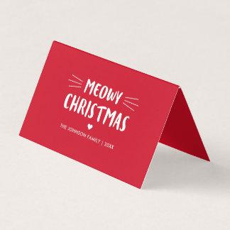 Meowy Christmas | Cute Cat Holiday Photo Card