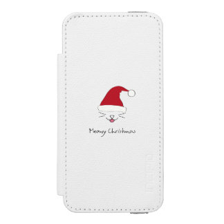 Meowy Christmas Cute Cat Holidays Wallet Case Incipio Watson™ iPhone 5 Wallet Case