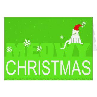 Meowy Christmas! Greeting Card