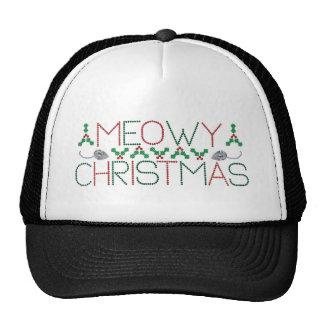 Meowy Christmas Trucker Hat