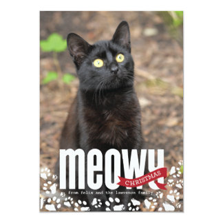 Meowy Christmas Holiday Photo Card Invite